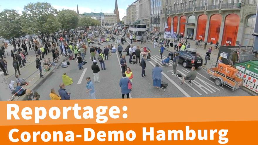 Reportage Corona-Demo Hamburg