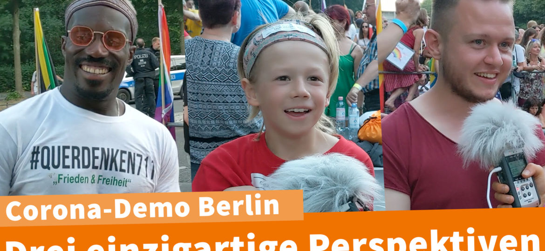 Corona Demo Berlin 01.08. 3 einzigartige Perspektiven
