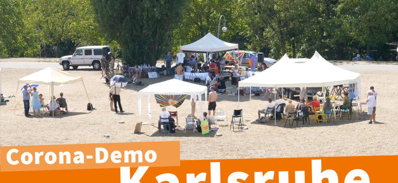 Corona Demo Karlsruhe 08.08. Reportage