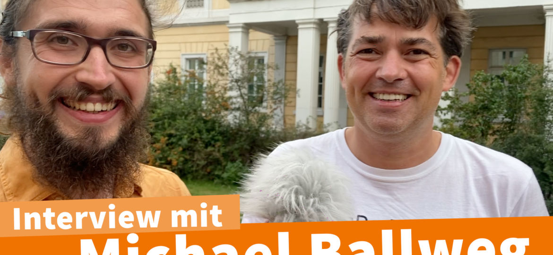 Interview mit Michael Ballweg 23.08. in Darmstadt