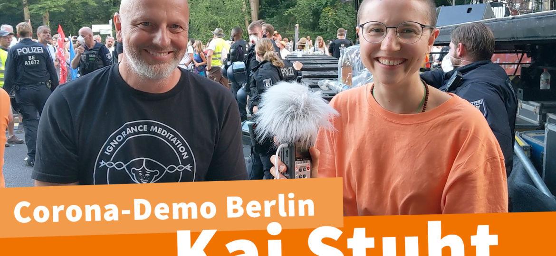 Kai Stuht Corona Demo Berlin Interview