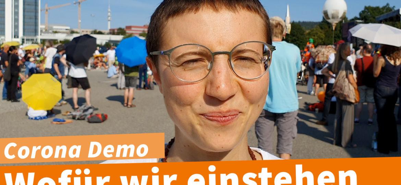 Corona Demo Ravensburg 13.10. Ansage Sujata