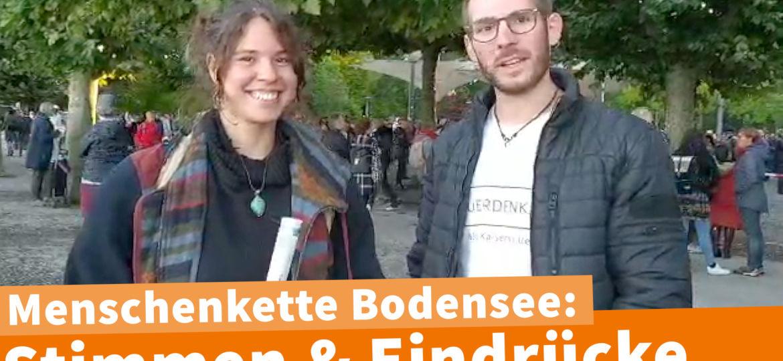 Marcel Menschenkette Bodensee Bericht